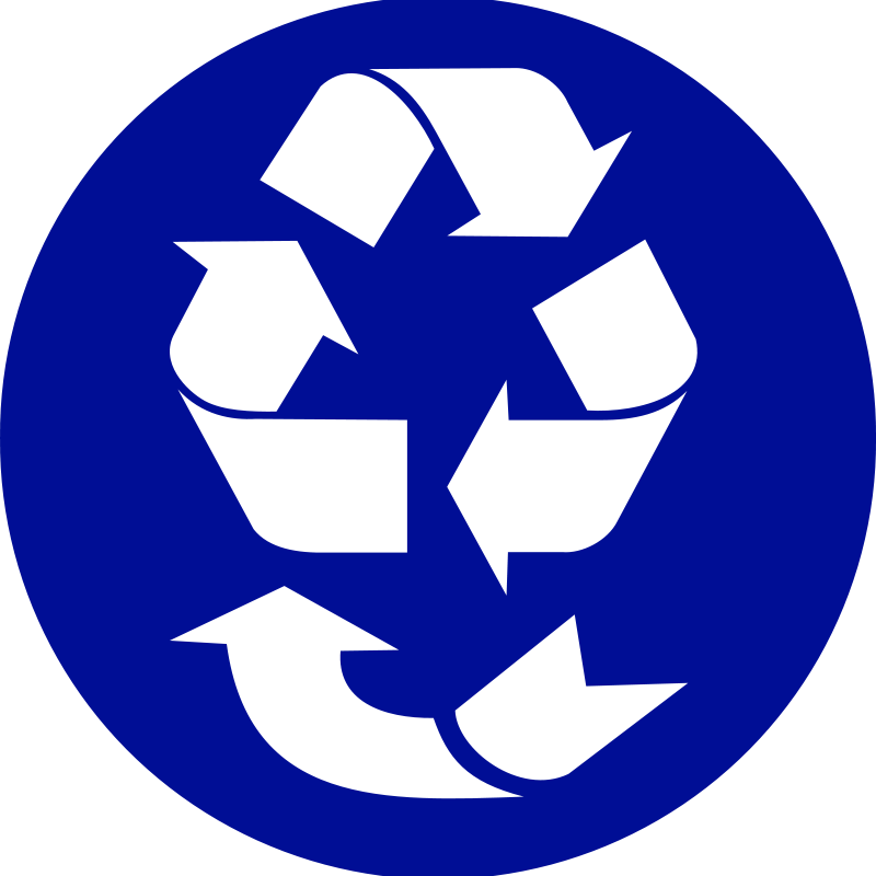 Reduce, Re-use, Recycle, Recover. symbol